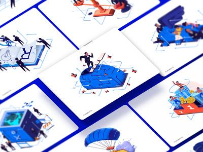 ILLUSTRATIONS RRG creativity draw creative character series illustrator vector color design illustration