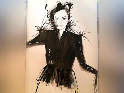 3rd watercolor portrait practice. watercolor