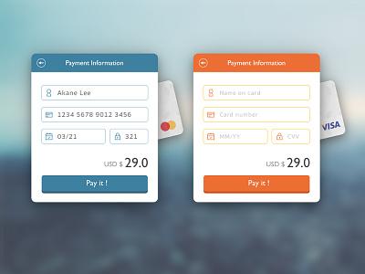 Day 2 : Credit Card Checkout ui visa master checkout credit card dailyui