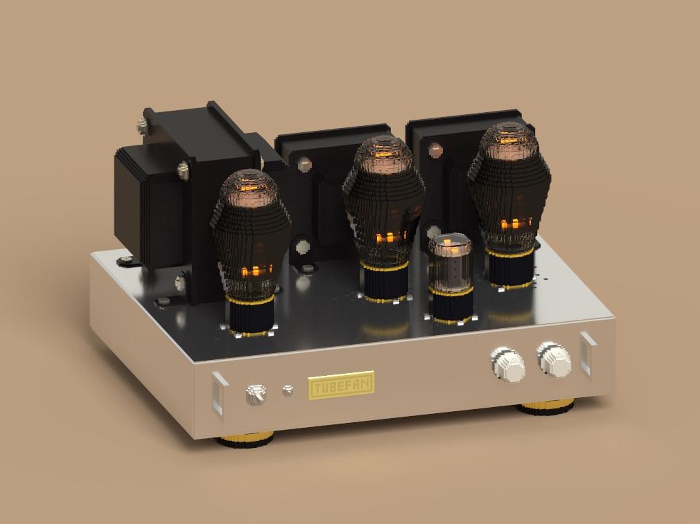Voxel Tube Amplifier voxelart illustraion magicavoxel
