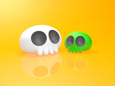Plastic Skulls 3d art skull maxon cinema4d 3d graphic design graphic design