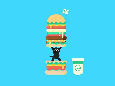 Cat Burger burger cat