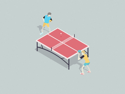 Ping Pong ping pong isometric illustration cool vector