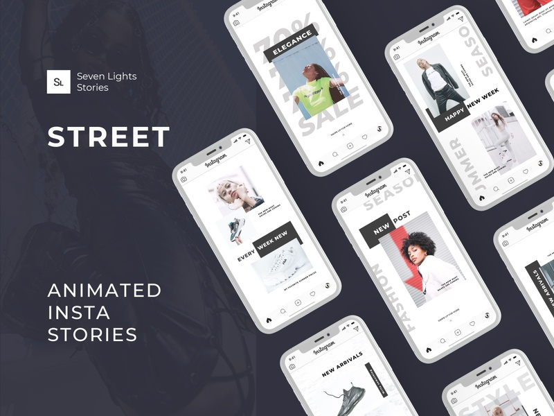 Street | Animated Instagram Stories graphic design display design instagram stories animated