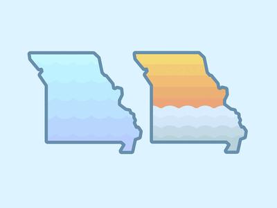 Float Missouri Die-Cut Stickers