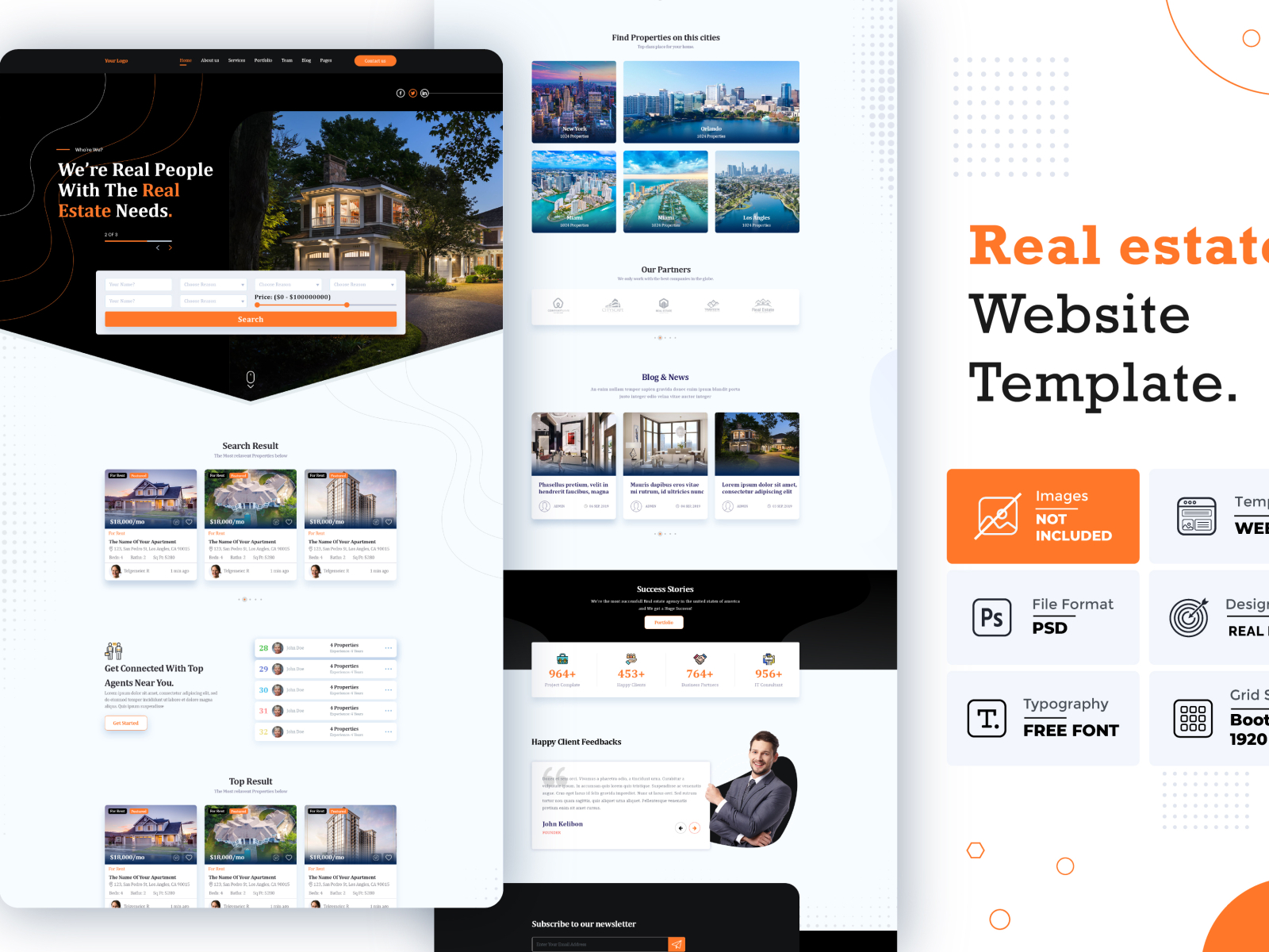 Real Estate Website Template By Md Rabiul Islam On Dribbble