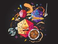 Cube Casino Battle Illustration