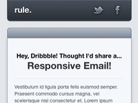 Rule.fm Responsive Email