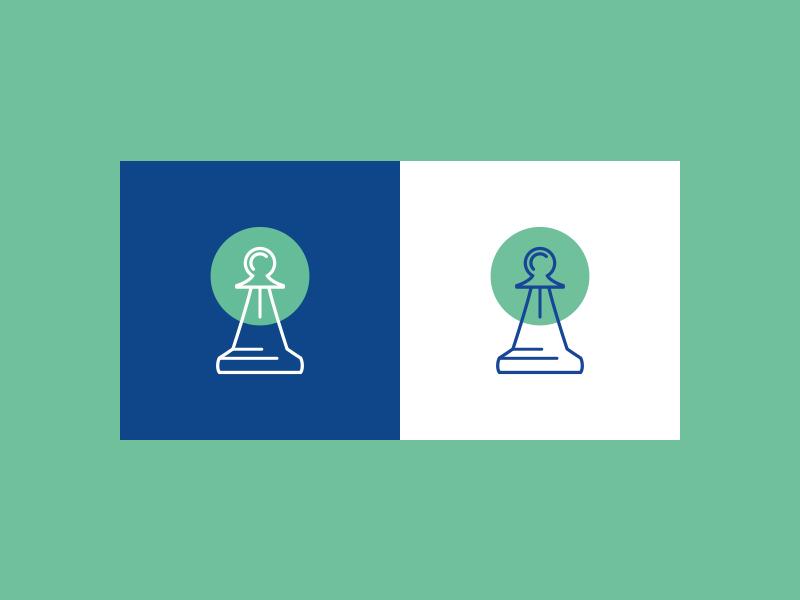 checkmate green blue chess illustration brand and identity app web design logo branding vector