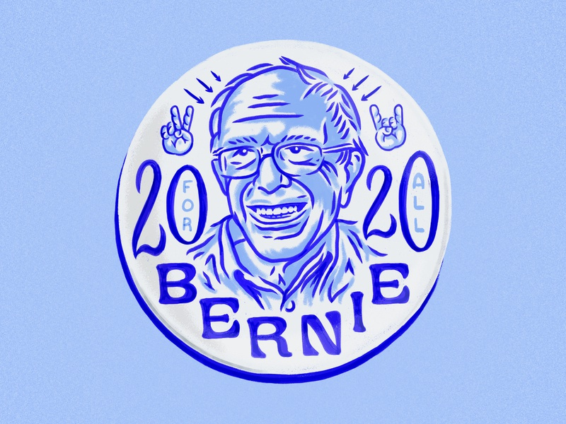 Bernie 2020 For All lettering democratic candidate illustration bernie sanders fan art bernie sanders for president bernie2020 bernie sanders