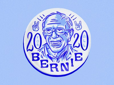 Bernie 2020 For All lettering democratic candidate illustration bernie sanders fan art bernie sanders for president bernie2020 bernie sanders