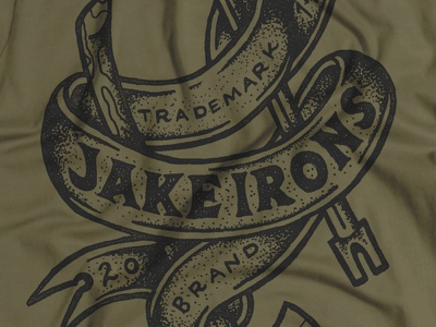Jake Irons Apparel Graphic illustration hand drawn texture hand lettering axe halligan drew lakin