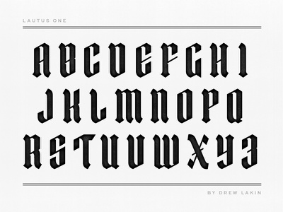 Lautus One Font Coming Soon lautus lautus one font drew lakin typeface type lettering custom font letters display blackletter