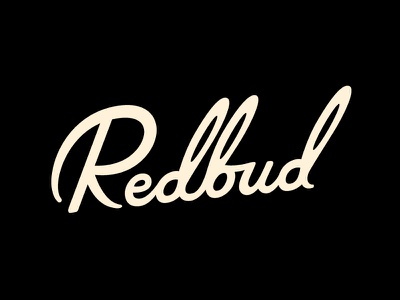 Redbud lettering script redbud hand drawn movie title typography drew lakin