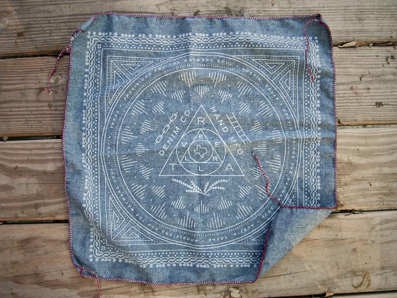 Traveller Denim Bandana traveller denim austin texas bandana screen printed chambray hand sewn denim drew lakin