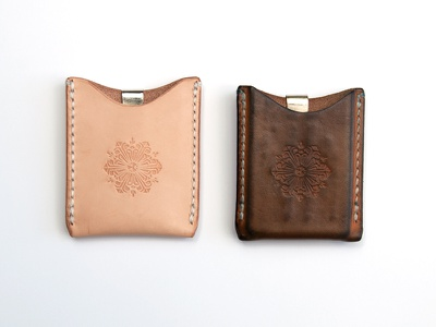 New Vs. Broken - In accessory drew lakin illustration handmade worn succulent stamp leather wallet