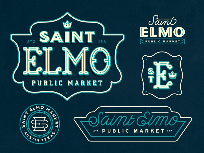 St. E Exploration texas austin market mark lockup seal monogram exploration brand identity branding lettering logotype