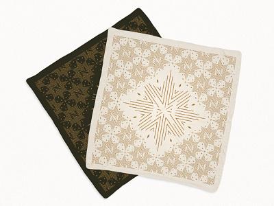 Compass Patterned Bandanas n diamonds tactile pattern compass bandana