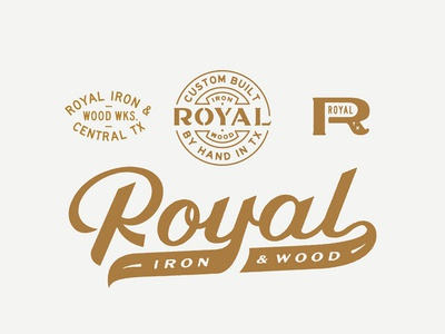 Royal Iron & Wood logo identity script royal
