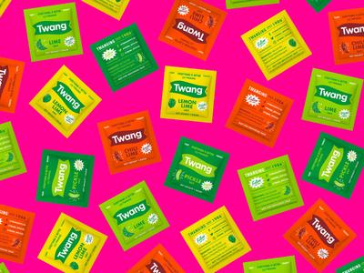 Twang Packets beer salt chili lime lemon lime pickle lime packet packaging twang