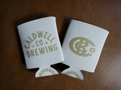 Caldwell Brewing Swag monogram texas merch beer brewing caldwell screen printed swag koozie