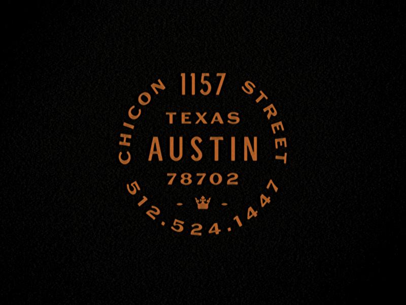 TC Contact Lockup type tattoo triple crown texas austin lockup