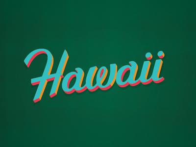 Hawaii Script festival tiki party tiki hot luck typography hawaii custom type lettering script