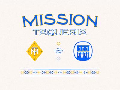 Mission Taqueria Update custom type identity branding iconography lettering icon badge hospitality restaurant taqueria mission