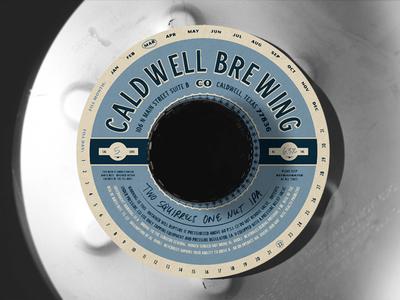 CBC Keg Collar caldwell brewing print brand extension identity keg collar brewery beer collar keg
