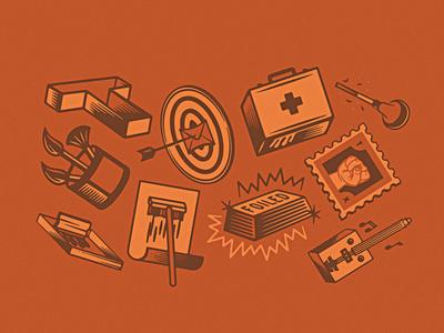 #workshoppartners wheat paste fist type bullseye painting stamp workshop illustration icons design ranch