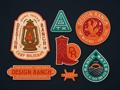 D Ranch Patches store brand extension illustration lamp water boot cactus texas austin aiga patches design ranch