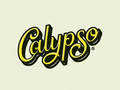 Calypso ID Exploration logotype dimensional typography lettering custom script identity brand