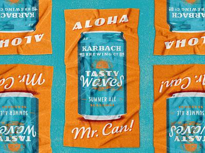 Karbach Towel beer waves tasty karbach beach merchandise towel brand extension