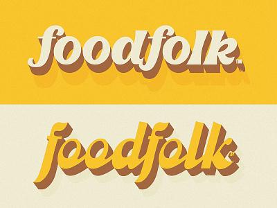 Foodfolk identity logo script logotype custom type lettering