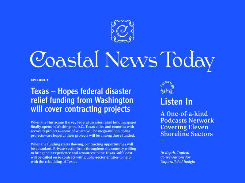 Coastal News Today Identity & Layout news feed lettering typography custom type badge newspaper layout branding identity today news coastal