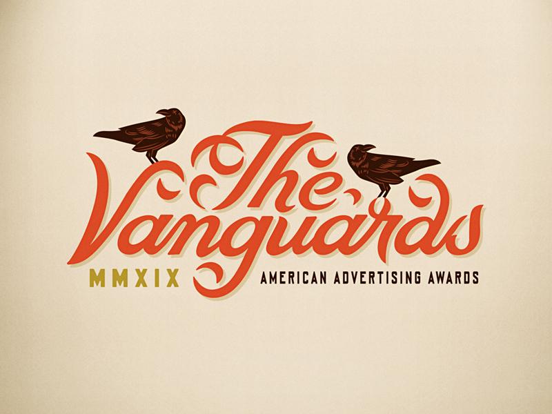 The Vanguards 2019 adfed awards illustration custom type lettering script texas austin grackle vanguard