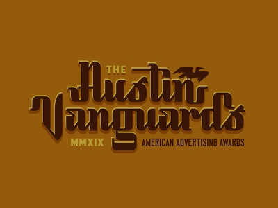 Killed Austin Vanguards script bundle austin texas illustration grackle type lockup logotype vanguard austin lettering type script