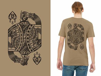 Brew & Brew tshirt merchandise playing card suicide king illustration texas austin craft beer coffee brew  brew