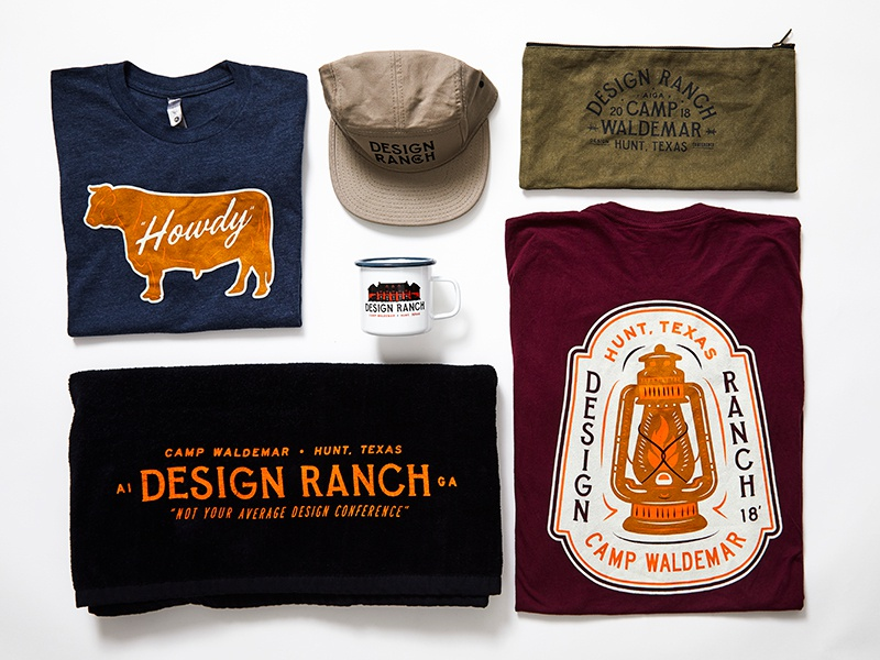 Design Ranch Overview lantern cow illustration towel aiga austin texas enamel mug hat tshirt merchandise design ranch