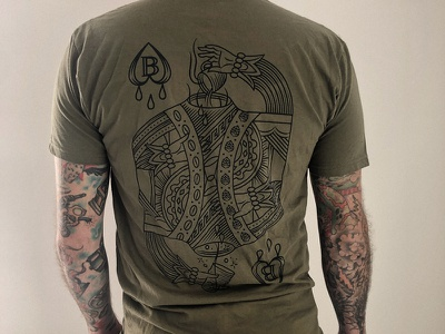 B&B Tee Available Now austin illustration suicide king apparel tee tshirt brew  brew