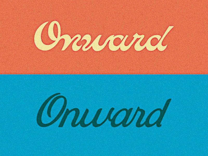 Onward Cycles Logotype Exploration lettering custom type script onward logotype