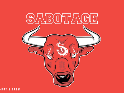 Sabotage b-boy's crew chicagobulls vector
