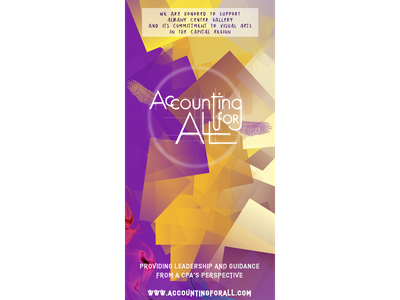 Ad for and accounting firn bright purple yellow wings money accounting flyer artwork advertisement branding vector design