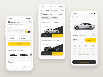 App for Car Rental in Europe