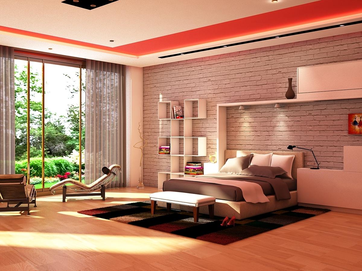 3d Visualization Of Master Bedroom By Chandni Luhadiya Dribbble
