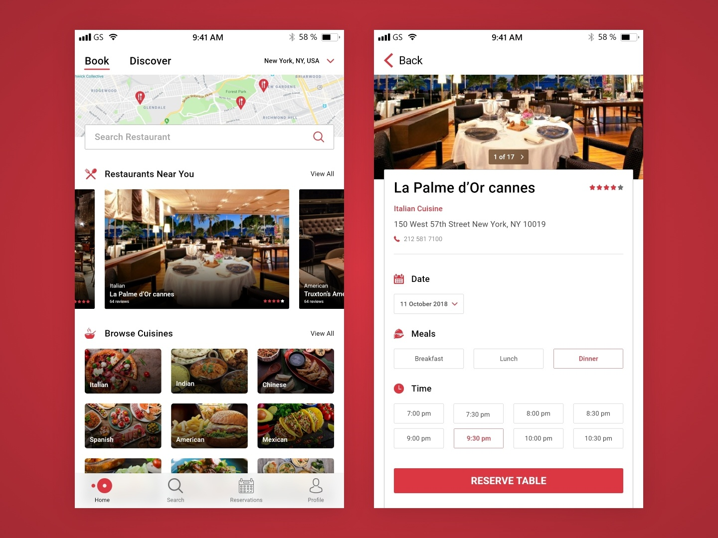 OpenTable Redesign booking table restaurant mobile design ios ux ui app opentable