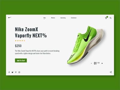 Nike Shoe Checkout Page
