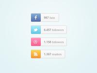 Social Buttons - PSD Freebie