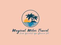Magical Miles Travel Logo Design