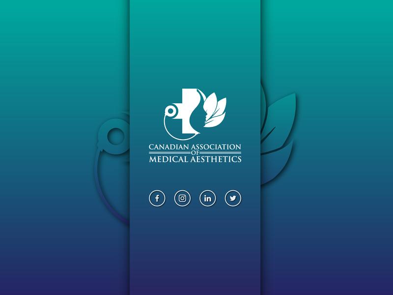 Medical Aesthetics Rolling Banner blue icon minimal design branding banner ad logo a day rolling banner banner logo